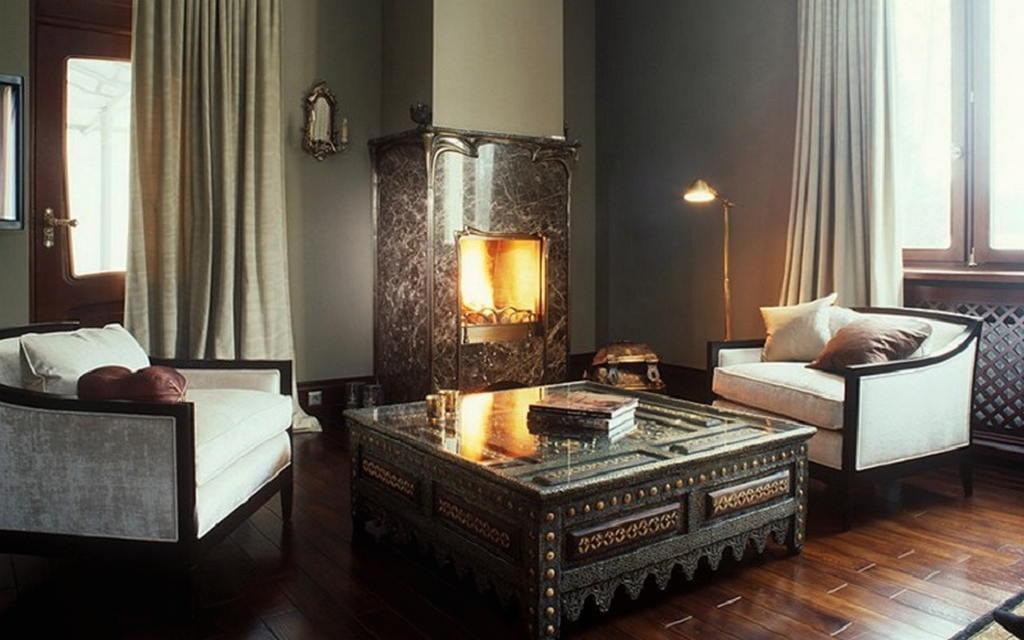 Тепло и уют — камин в интерьере квартиры и дома 109