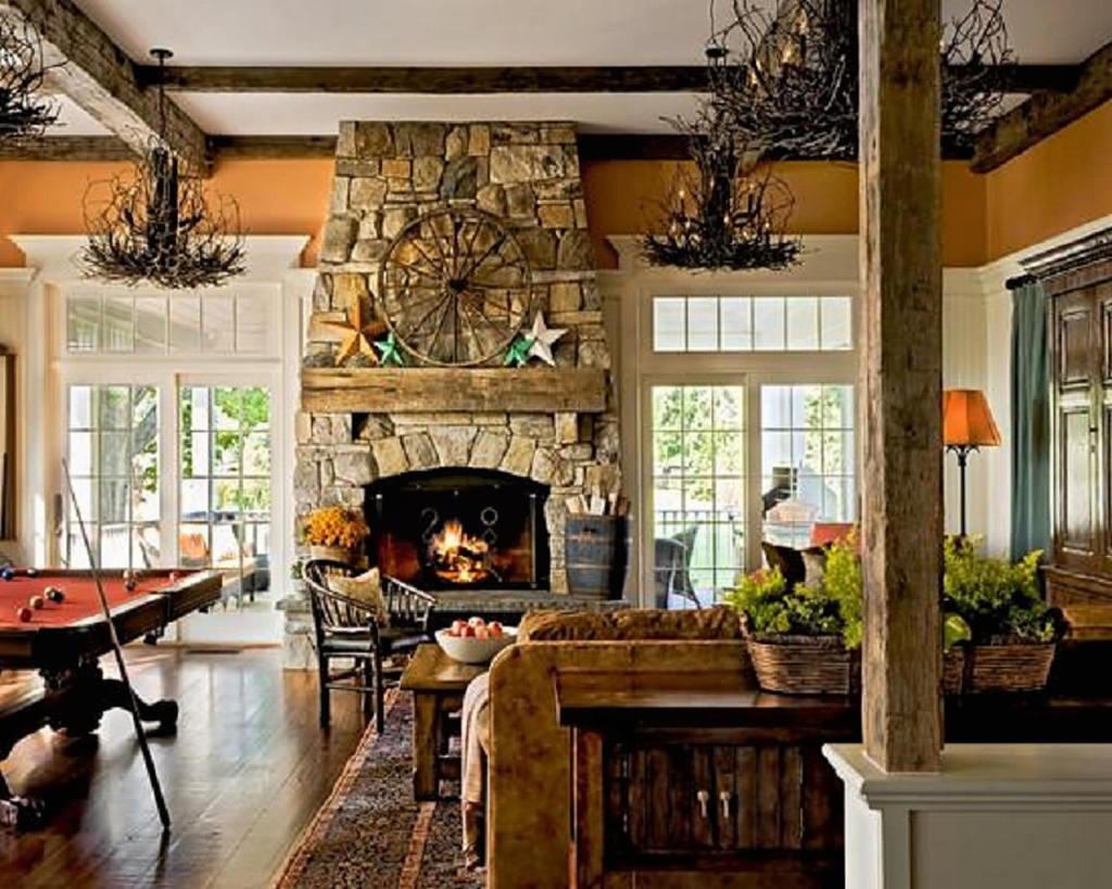 Тепло и уют — камин в интерьере квартиры и дома 110
