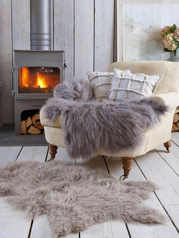Тепло и уют — камин в интерьере квартиры и дома 12