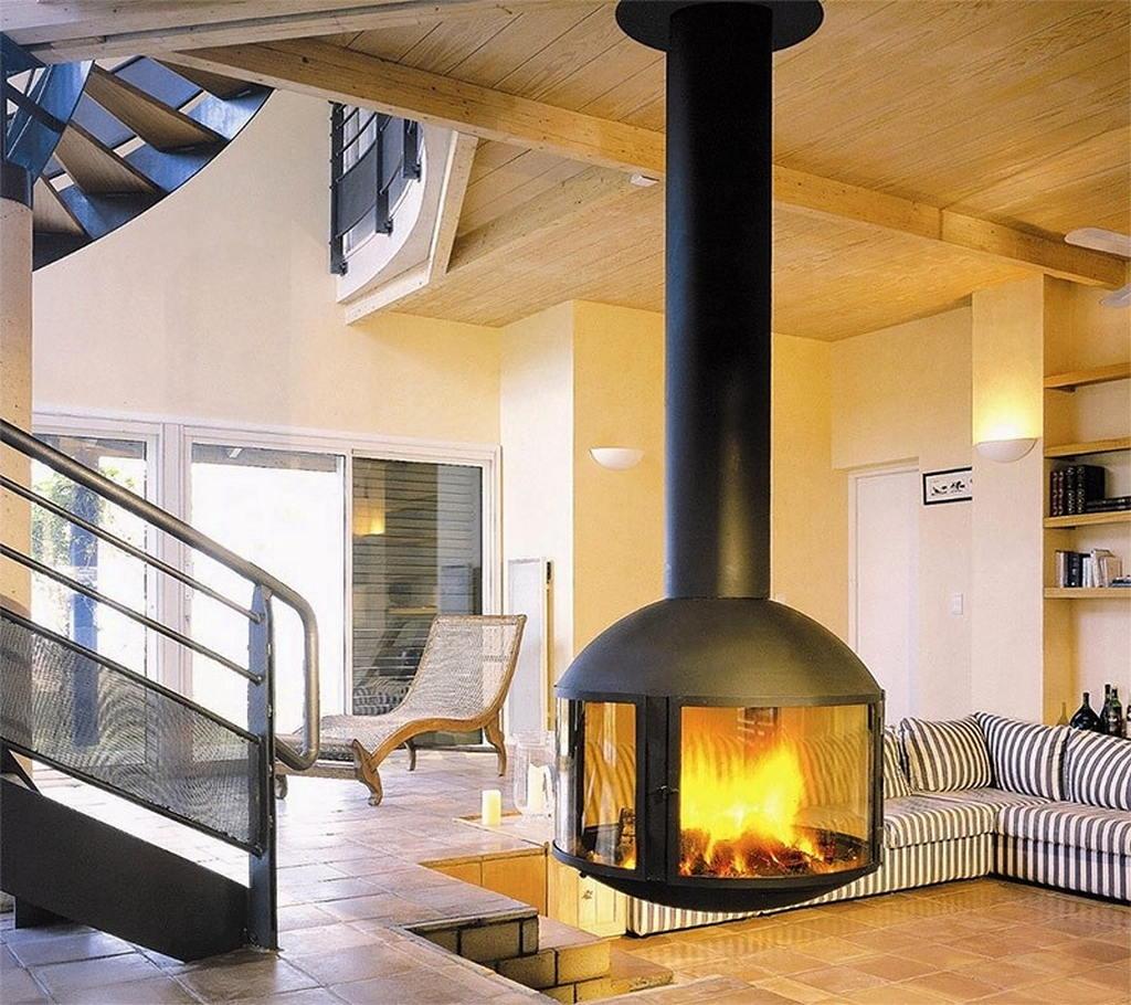 Тепло и уют — камин в интерьере квартиры и дома 121