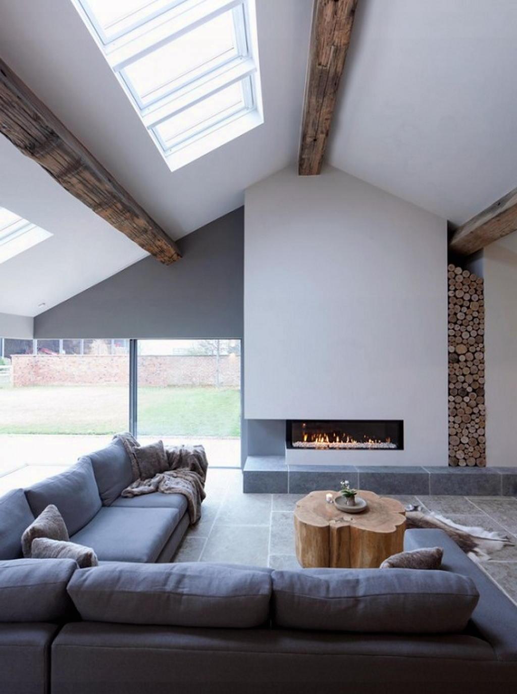 Тепло и уют — камин в интерьере квартиры и дома 15