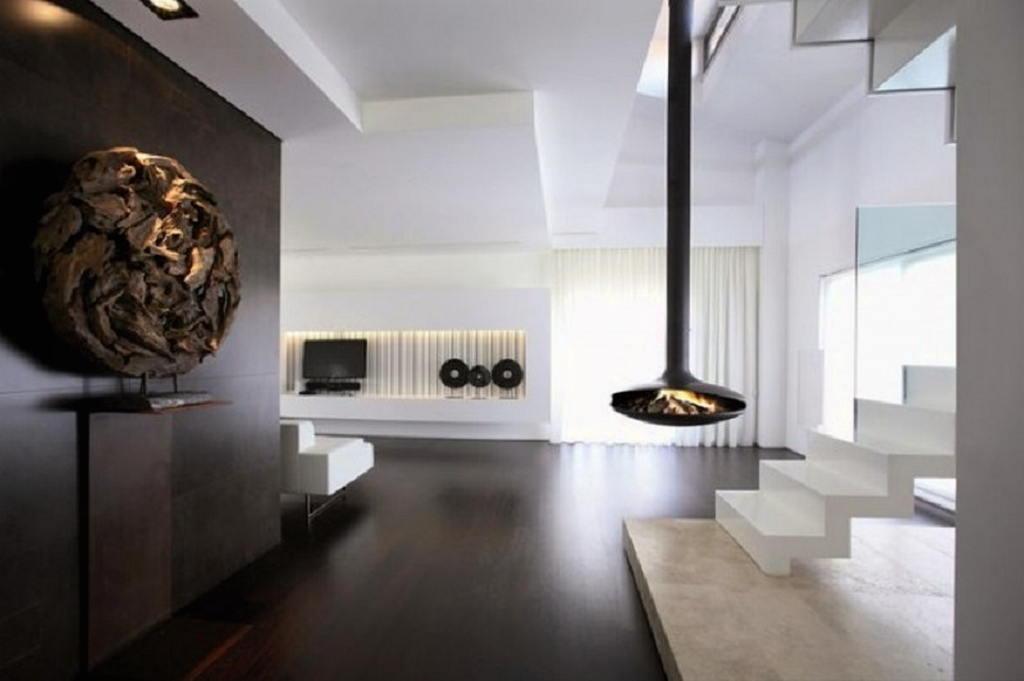 Тепло и уют — камин в интерьере квартиры и дома 17