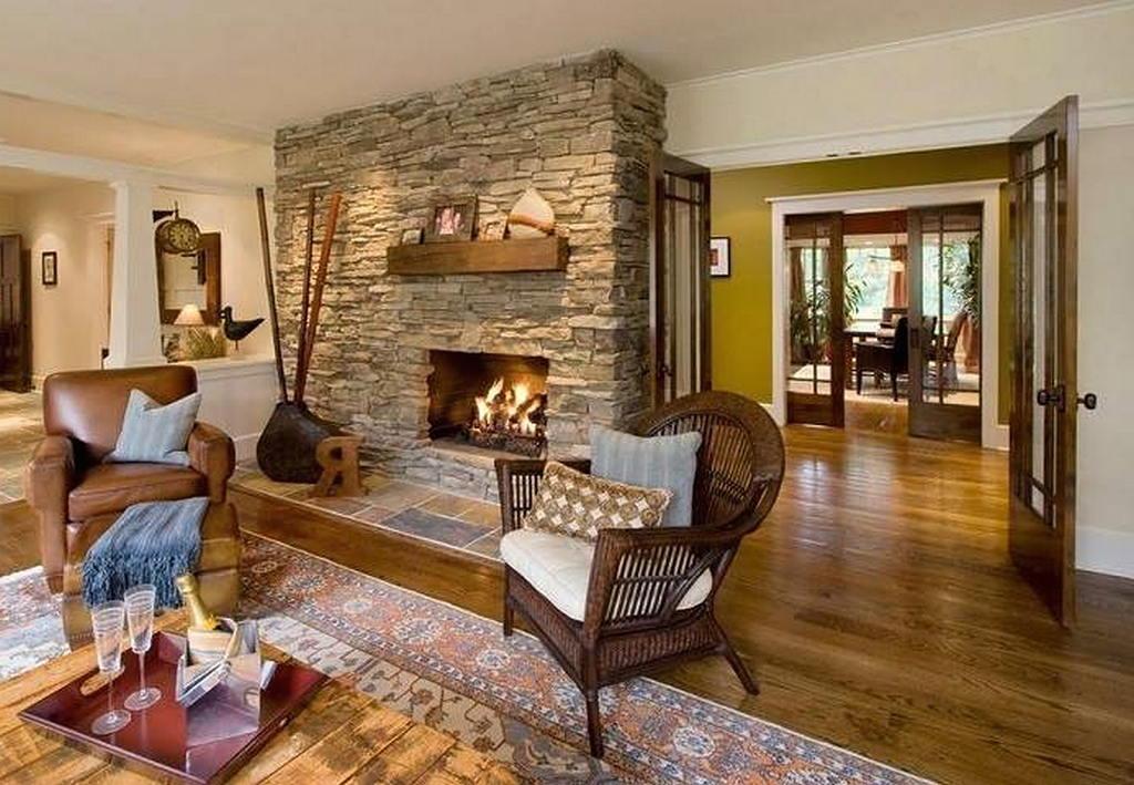 Тепло и уют — камин в интерьере квартиры и дома 28