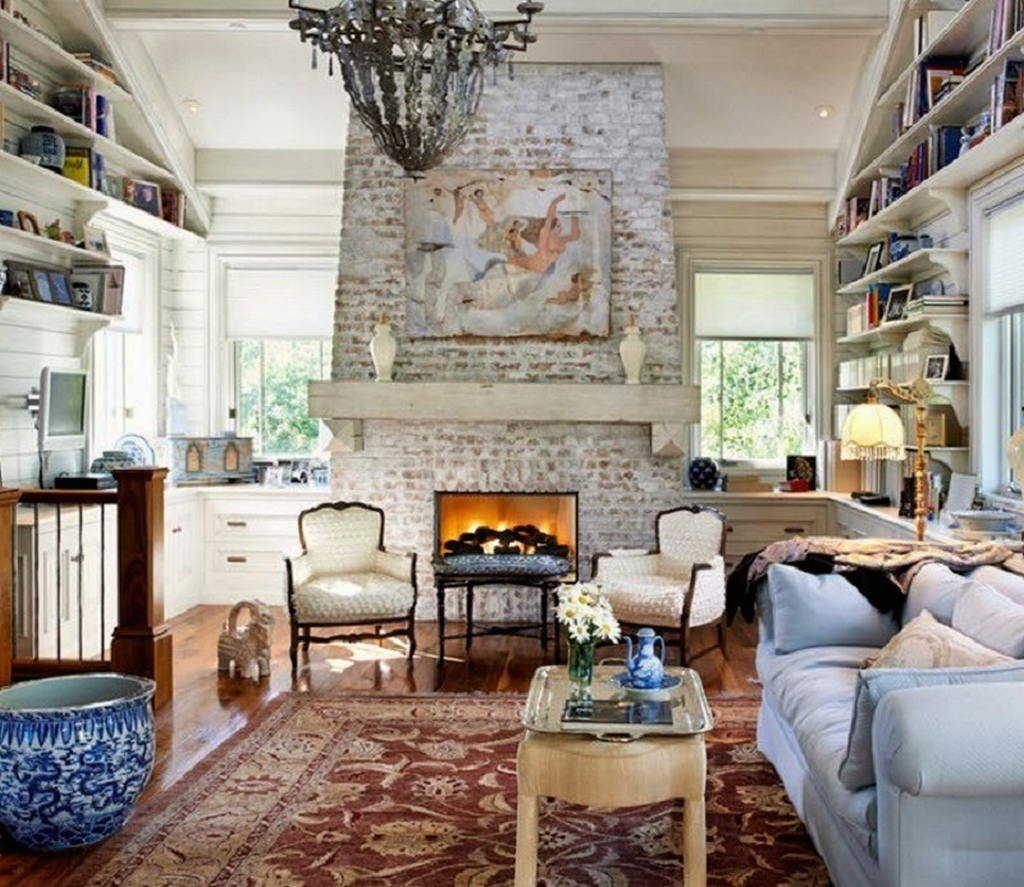 Тепло и уют — камин в интерьере квартиры и дома 40