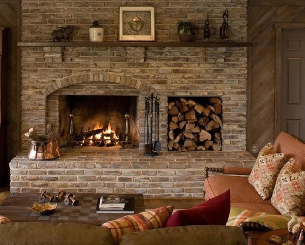 Тепло и уют — камин в интерьере квартиры и дома 43