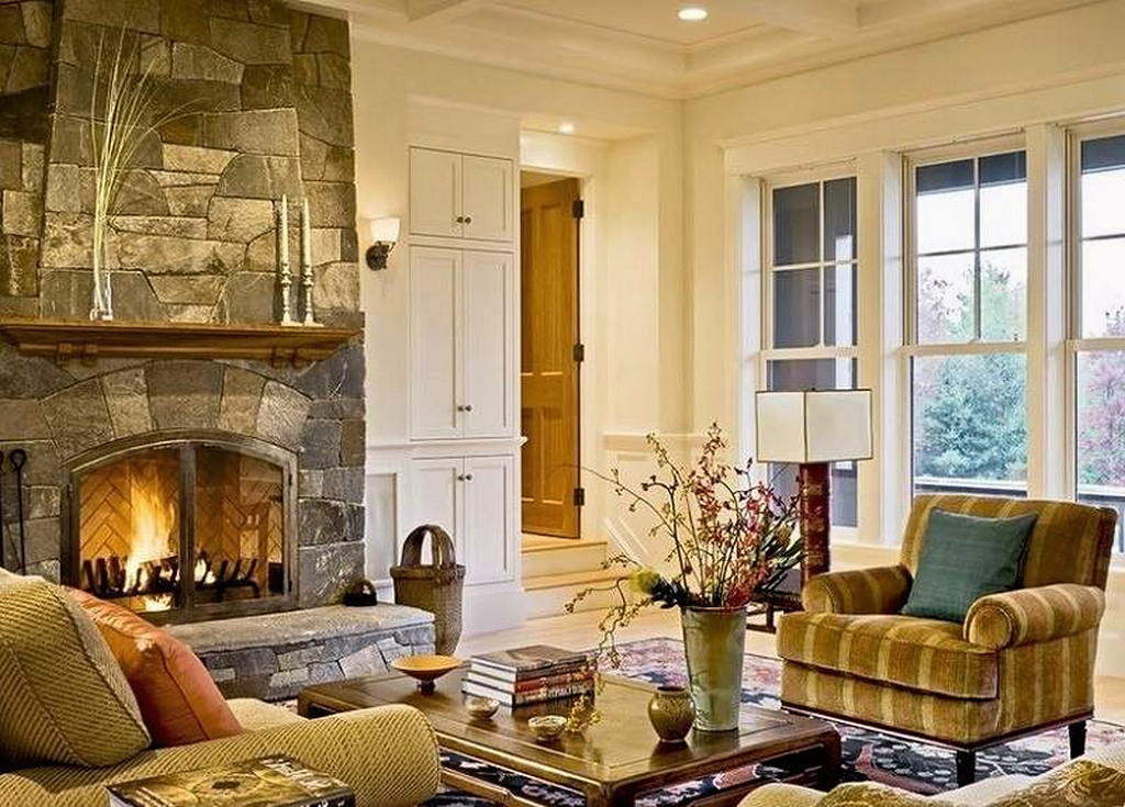 Тепло и уют — камин в интерьере квартиры и дома 46