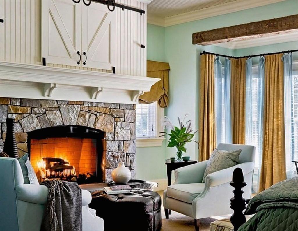 Тепло и уют — камин в интерьере квартиры и дома 49
