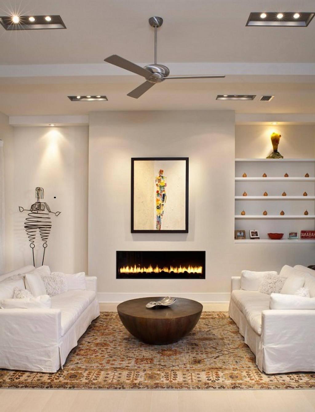 Тепло и уют — камин в интерьере квартиры и дома 5