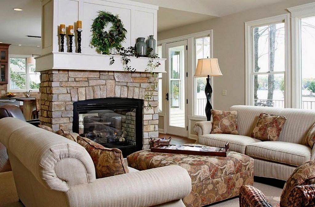 Тепло и уют — камин в интерьере квартиры и дома 55