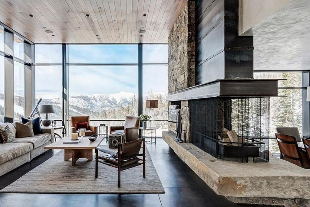 Тепло и уют — камин в интерьере квартиры и дома 57