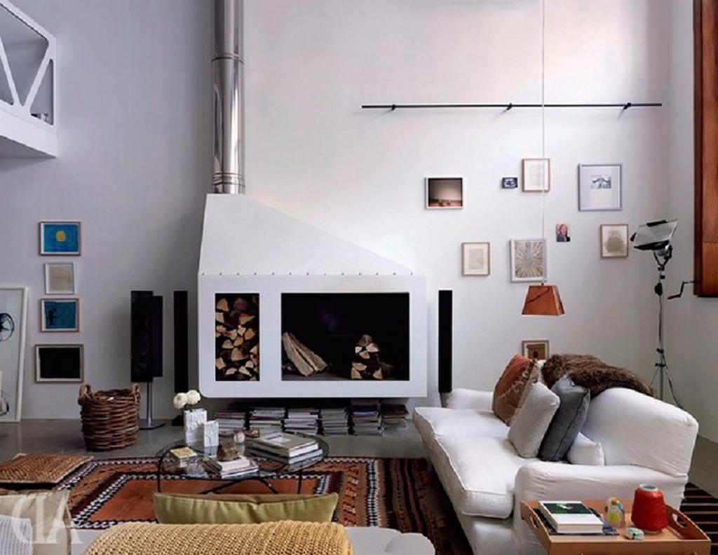 Тепло и уют — камин в интерьере квартиры и дома 60
