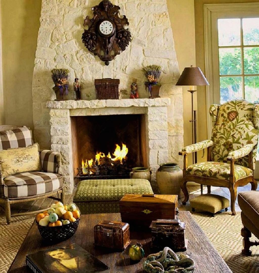 Тепло и уют — камин в интерьере квартиры и дома 63
