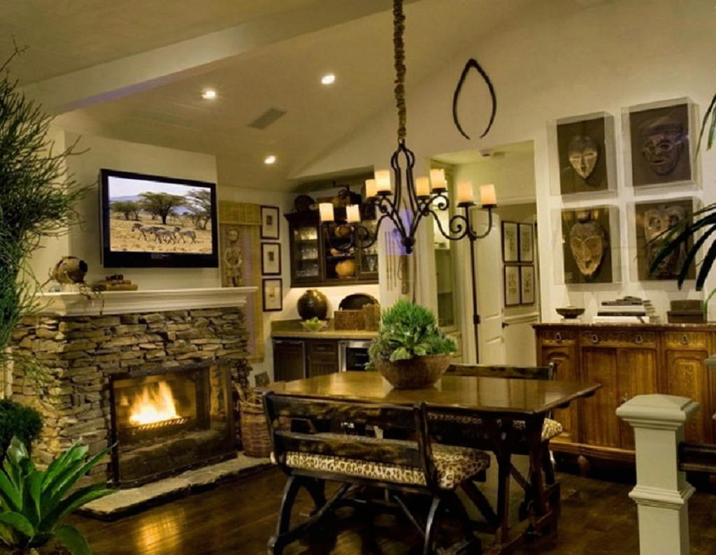 Тепло и уют — камин в интерьере квартиры и дома 67