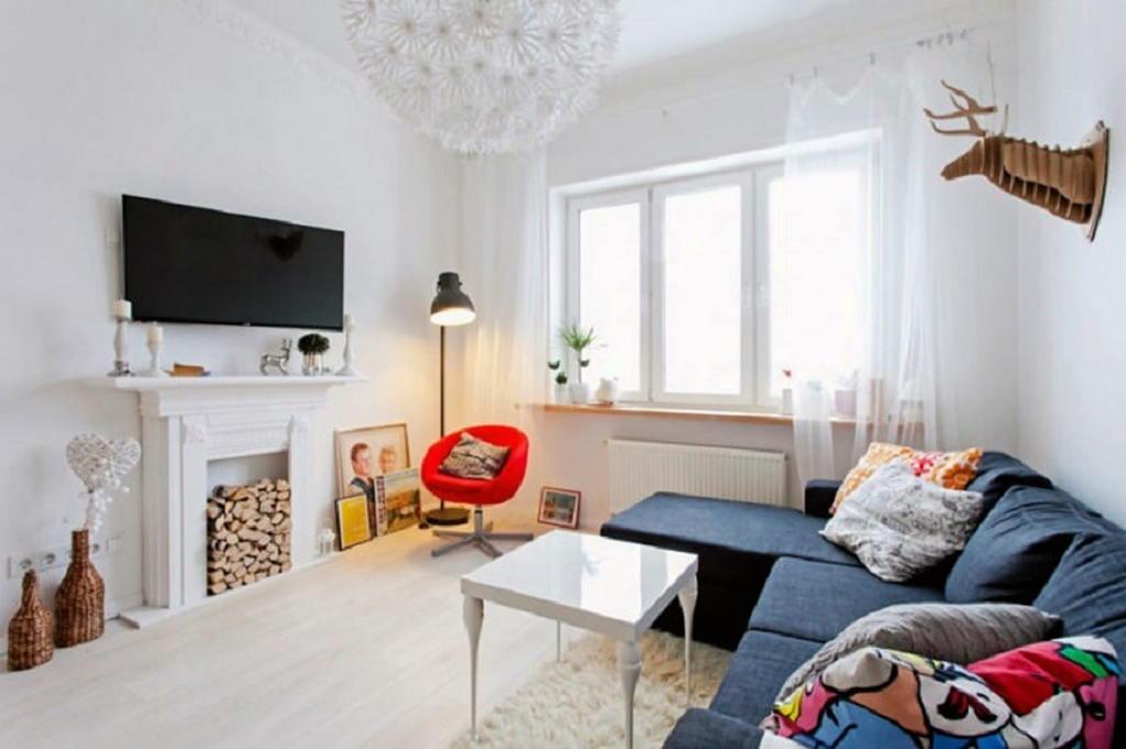 Тепло и уют — камин в интерьере квартиры и дома 70