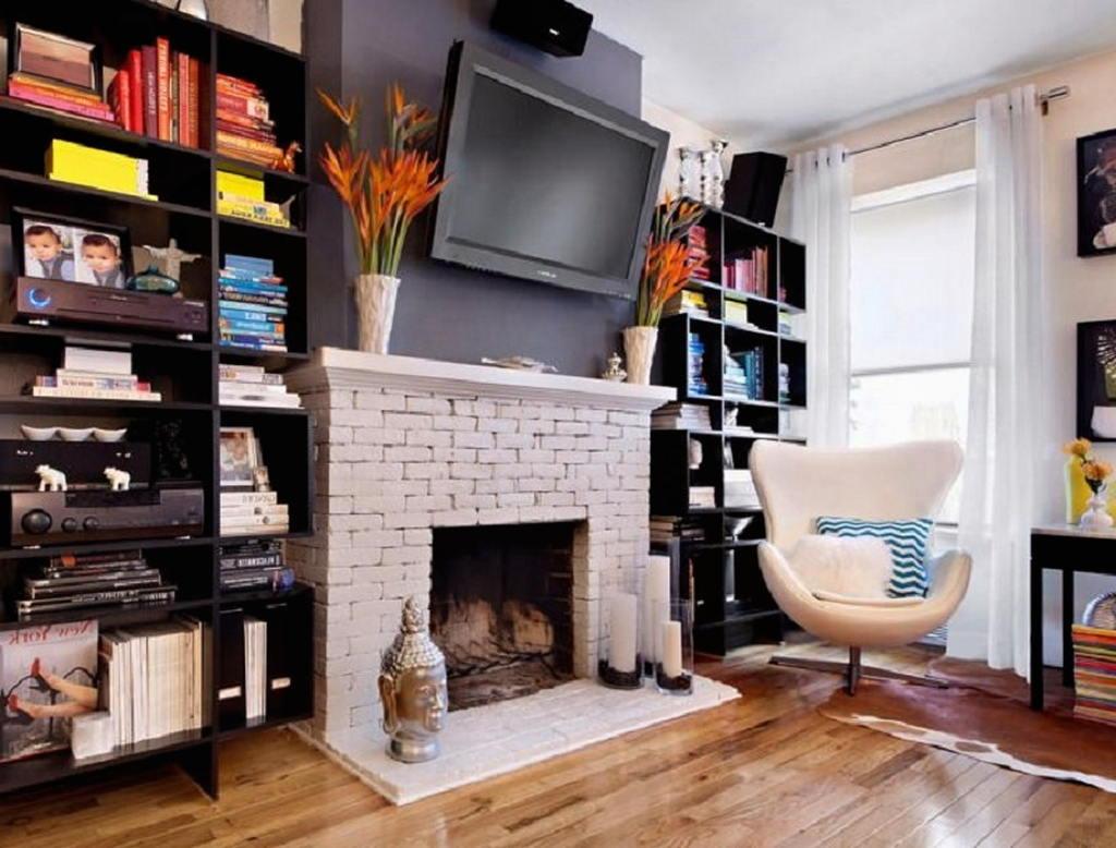 Тепло и уют — камин в интерьере квартиры и дома 71