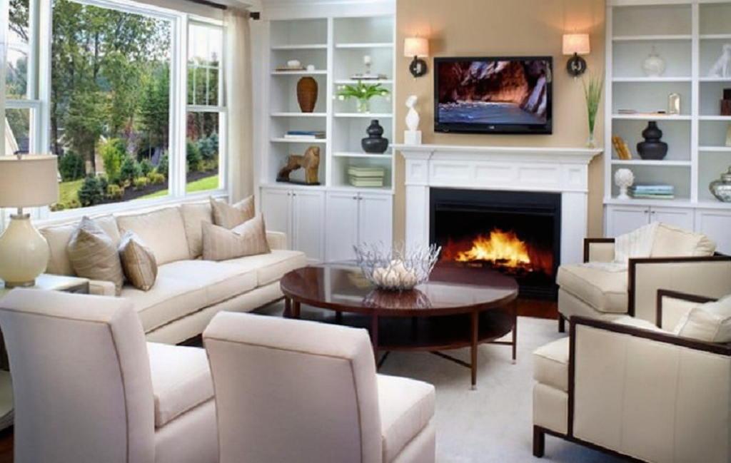 Тепло и уют — камин в интерьере квартиры и дома 86