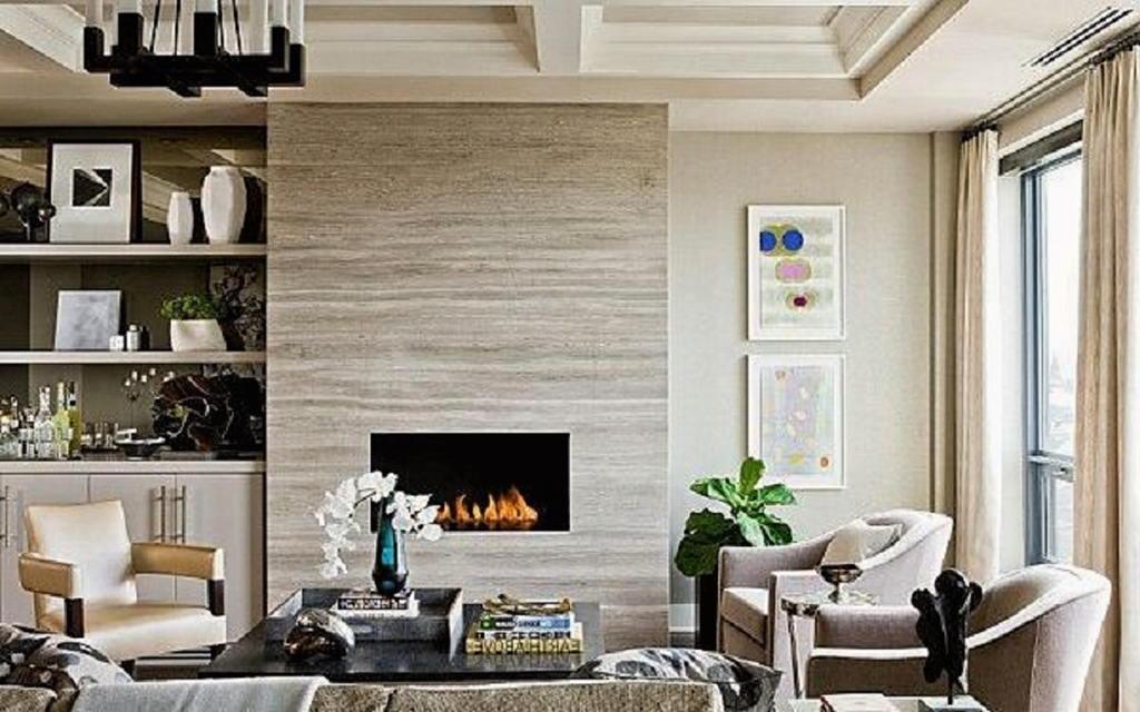 Тепло и уют — камин в интерьере квартиры и дома 87