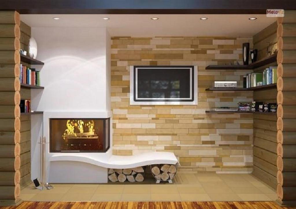 Тепло и уют — камин в интерьере квартиры и дома 92