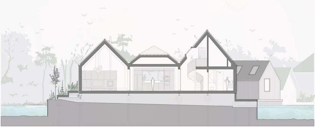 Дом на берегу озера от студии Platform 5 Architects 39