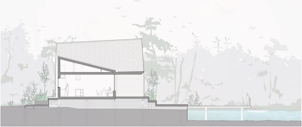Дом на берегу озера от студии Platform 5 Architects 40