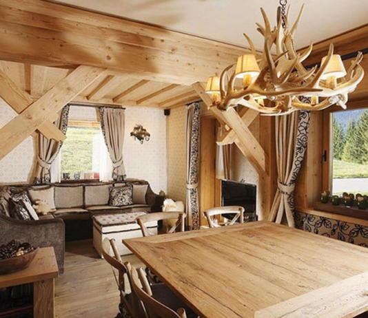 Деревянный интерьер дома по проекту Gianpaolo Zandegiacomo 001