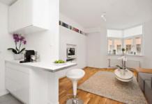 Интерьер белой квартиры в Стокгольме 24 кв. метра уюта 1
