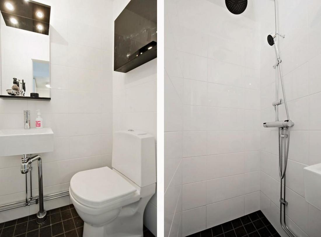Интерьер белой квартиры в Стокгольме 24 кв. метра уюта 10