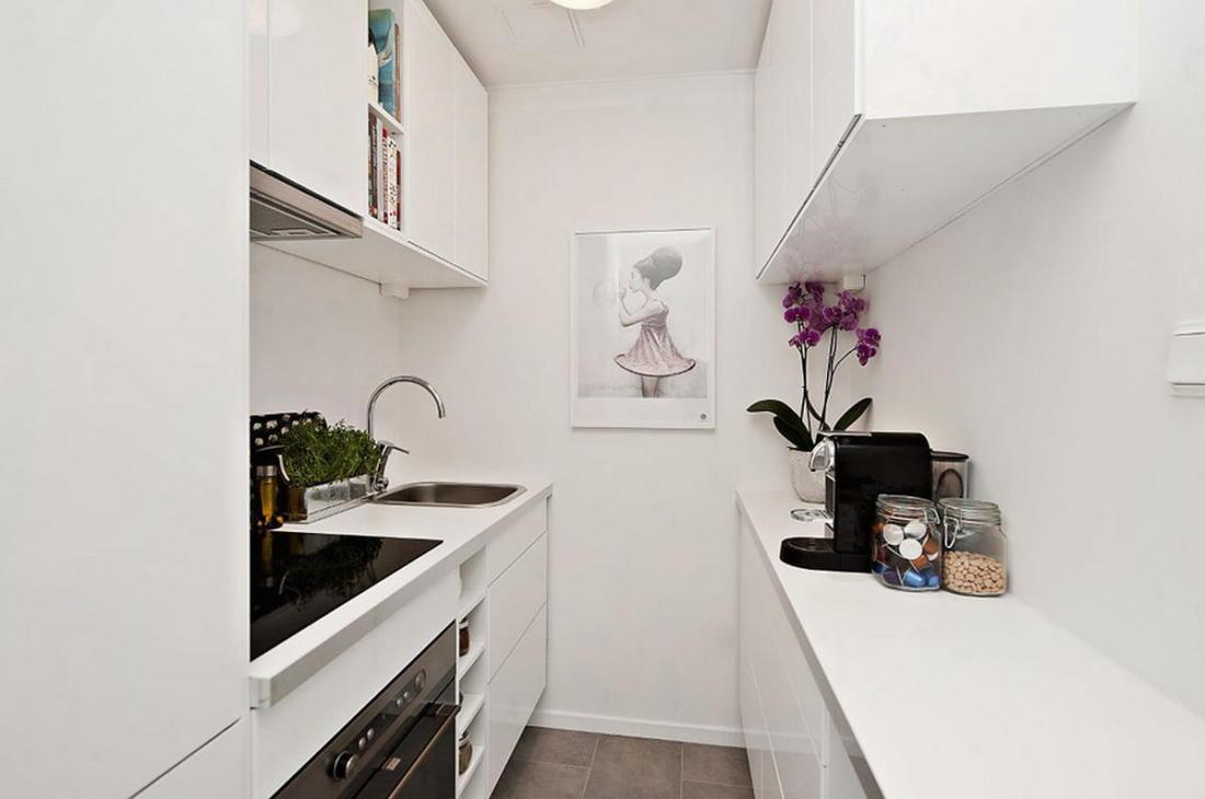 Интерьер белой квартиры в Стокгольме 24 кв. метра уюта 3