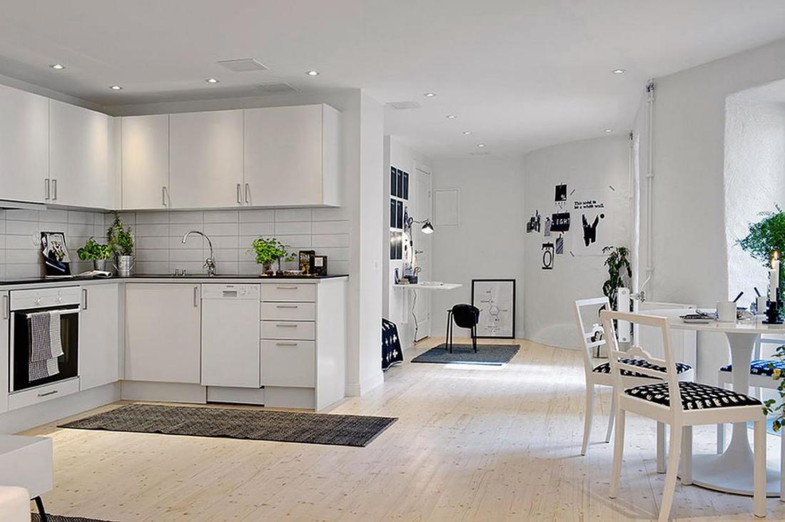 Квартира в Гетеборге пространство света и уюта 07