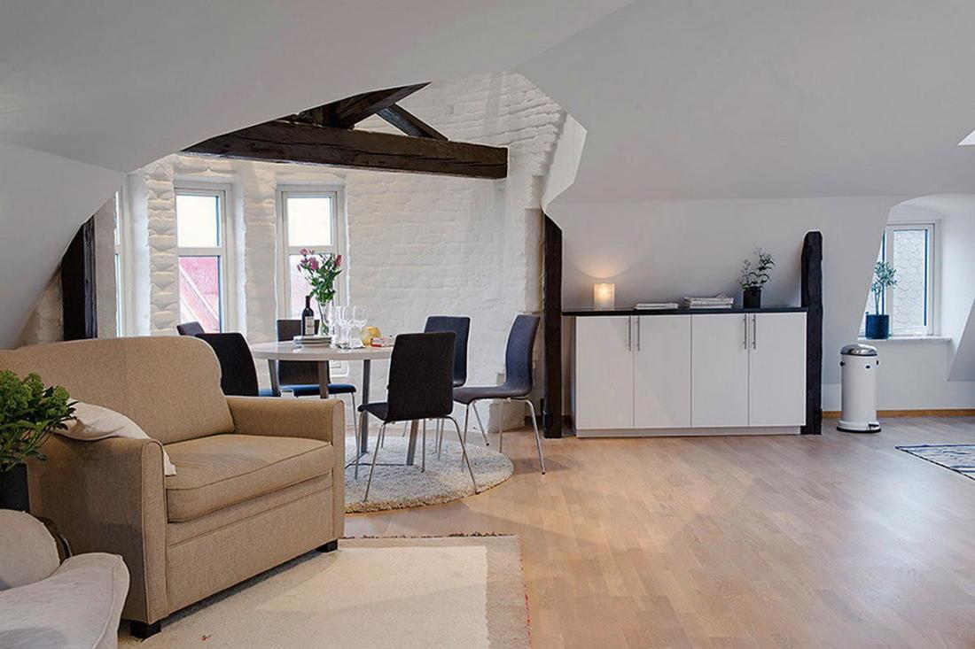 Мансардная квартира в скандинавском стиле 10