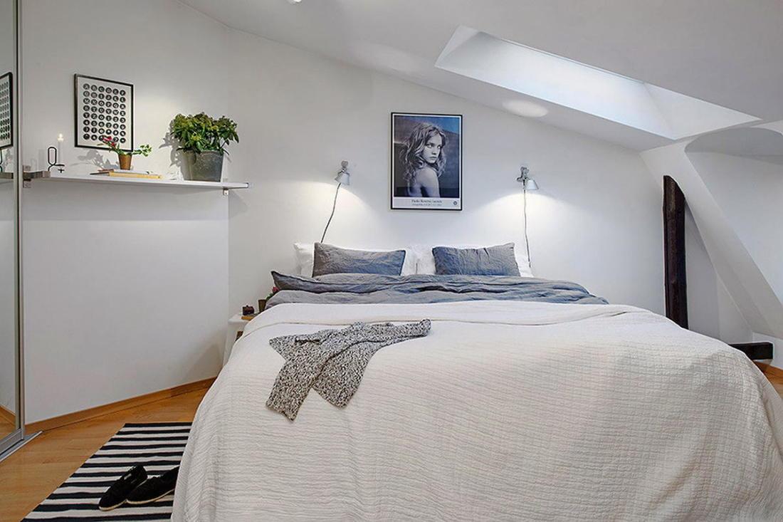 Мансардная квартира в скандинавском стиле 14