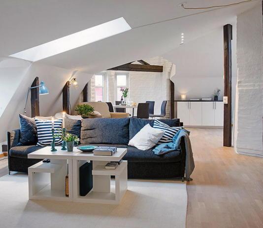 Мансардная квартира в скандинавском стиле 2