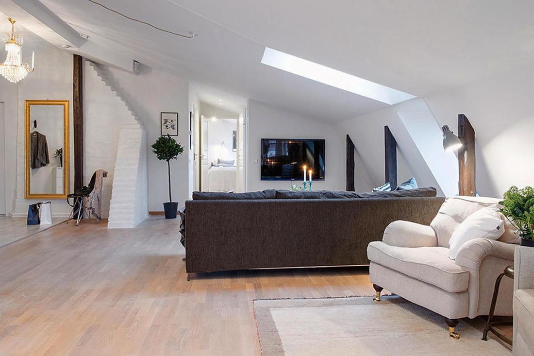 Мансардная квартира в скандинавском стиле 7