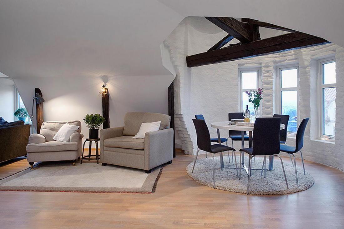 Мансардная квартира в скандинавском стиле 9