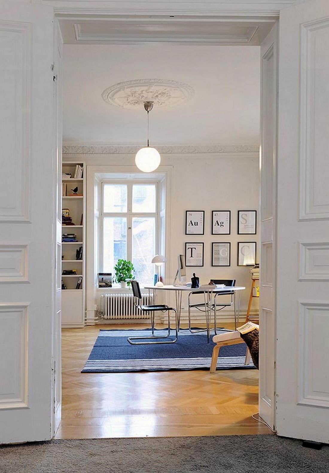 Уют под крышей квартира в скандинавском стиле 23