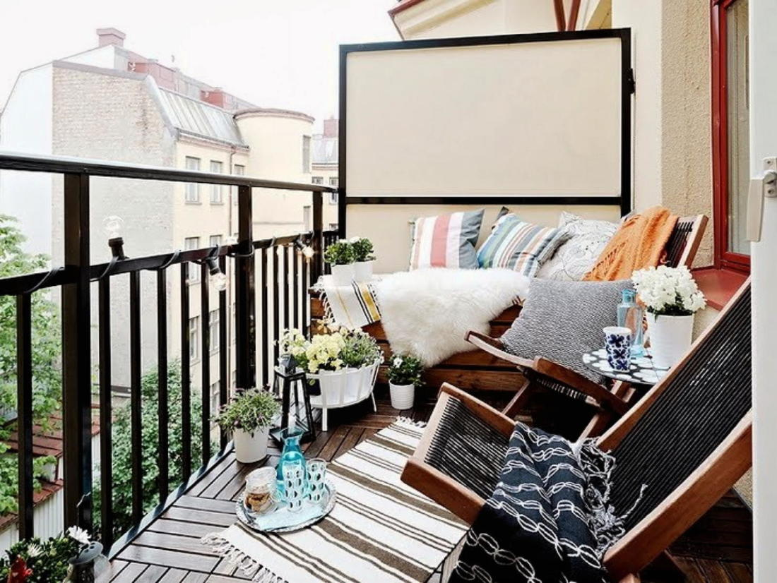 балкон в скандинавском стиле 2