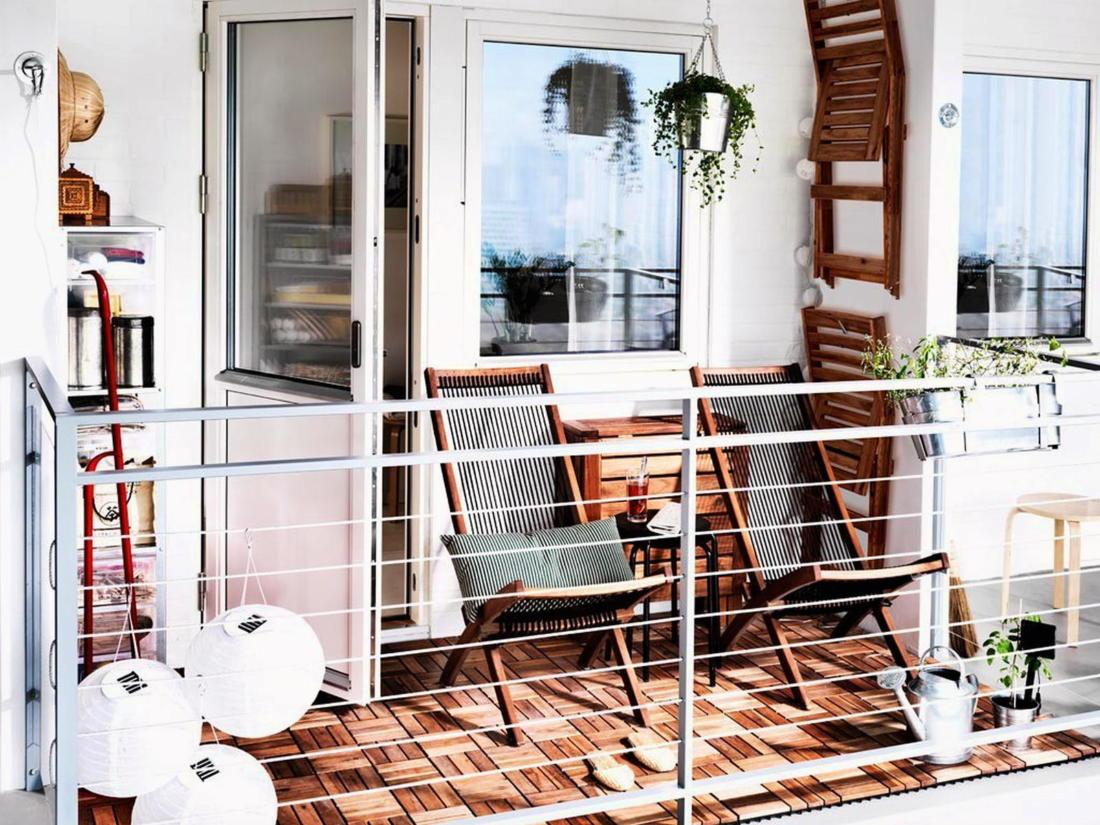 балкон в скандинавском стиле 3